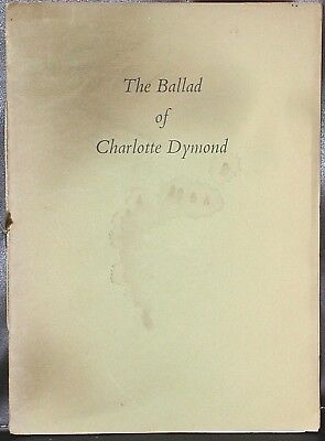 CHARLES CAUSLEY: The Ballad of Charlotte Dymond SIGNED illus Lionel Miskin 1958