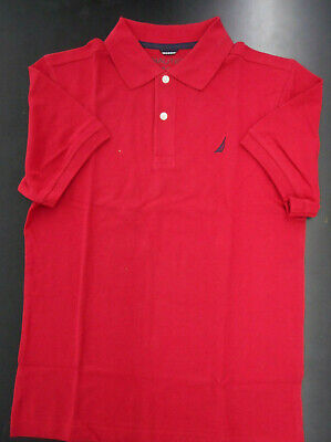 Boys Nautica $29.50 Red Short Sleeved Polo Shirt Size 14-16