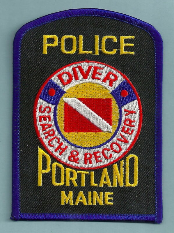 PORTLAND MAINE POLICE DIVE RESCUE TEAM SHOULDER PATCH