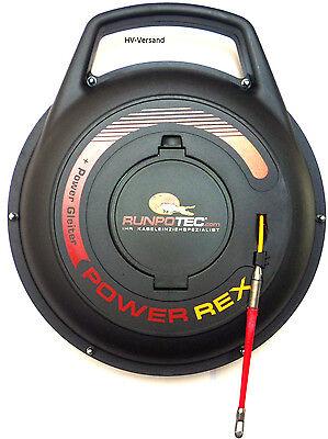 Kabeleinziehhilfe Runpotec Power Rex -Set,20m,mit RTG6 Gewinde,Nr.:10087