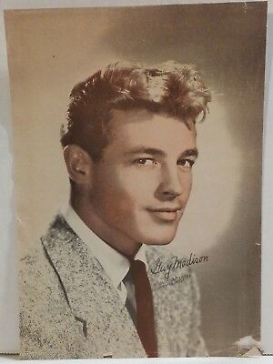 """1940s - GUY MADISON 'in Columbia Pictures"""" MOVIE PROMO 5x7 Litho Magazine (?) AD"""