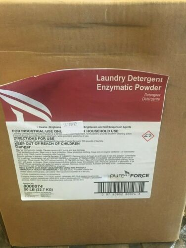 Ecolab Pure Force 8000074 Laundry Detergent Enzymatic Powder (50lb)