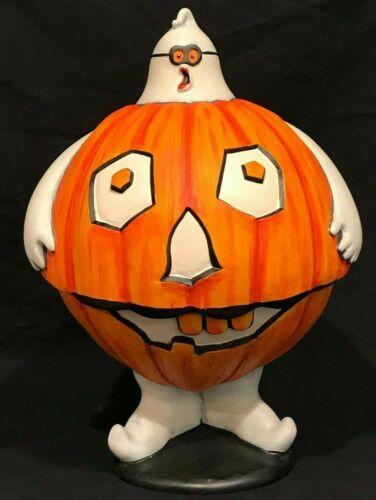 """Department 56 Flip Tops Halloween Pumpkin Ghost Candy 11"""" Serving Bowl"""