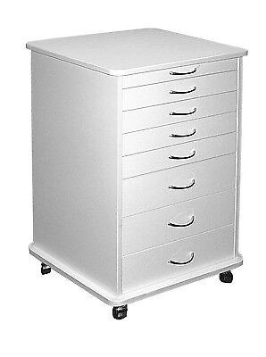 Medical Dental Equipment 7-drawer Doctors Mobile Cabinet Cart White