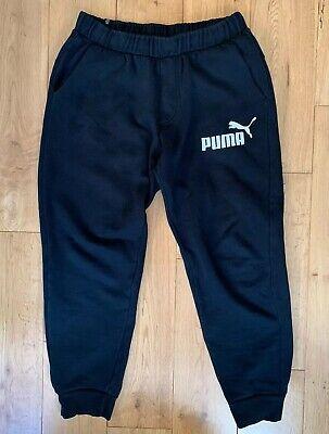 Puma Regular Black Joggers Sweatpants Medium