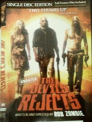 The Devils Rejects DVD, 2005, Widescreen, Unrated, Single Disc Version, Sid Haig