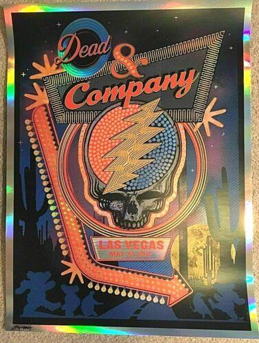 Dead & Company MGM Grand Las Vegas NV 2017 RAINBOW FOIL Screen Poster SIGNED #/D