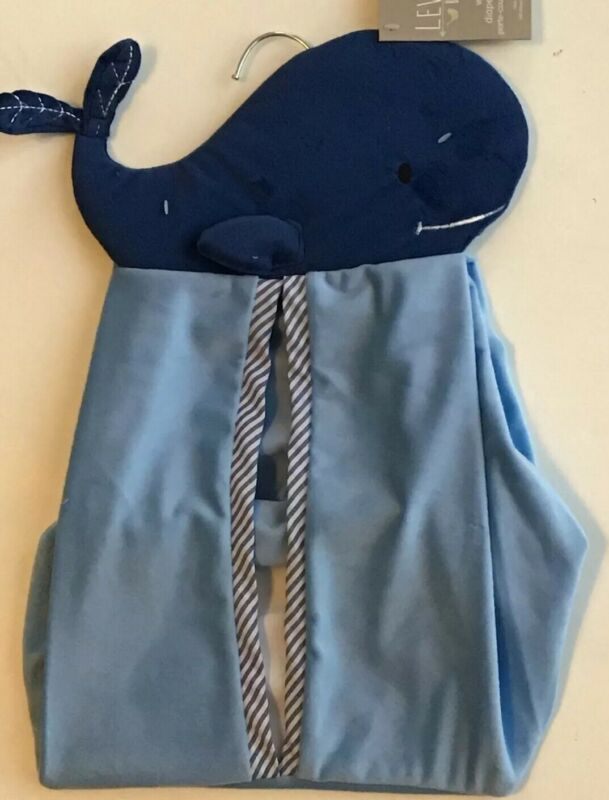 Levtex Baby Hanging Blue Whale Diaper Stacker Nwt