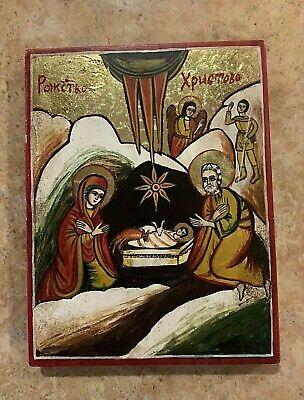Bulgarian orthodox icon Nativity HANDPAINTED