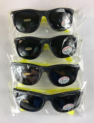 Neon Plastic Sunglasses (Plastic/Rubber Neon Yellow Sunglasses (SET OF)