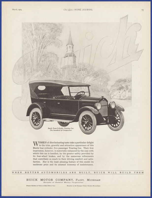 Vintage 1924 BUICK Four Cylinder Touring Motor Car Automobile 20