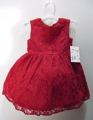 Mia & Mimi  Girls Fancy Luxe Red Lace Dress Special Occasion/ Princess