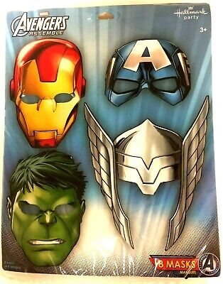 Marvel Birthday Party Supplies (Avengers Marvel Superhero Birthday Party Supplies Favor Paper Masks PACK of)
