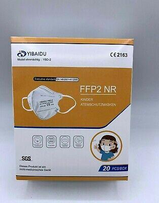 20xFFP2 Maske für Kinder, mit CE2163 Atemschutz EN 149:2001+A1:2009 NEU
