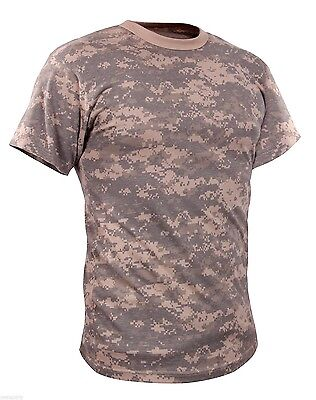 vintage acu digital camo t-shirt military camouflage short sleeve rothco 44777 Acu Digital Camouflage T-shirt