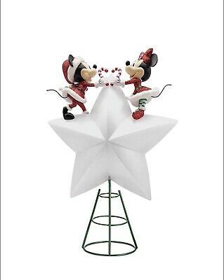 Disney Store 2020 Mickey and Minnie Mouse Light-Up Holiday Tree Topper