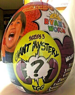 RYAN'S WORLD SERIES 3 GIANT MYSTERY EGG NEW SEALED UNOPENED
