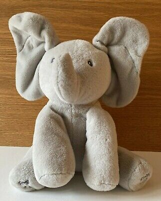 "Baby GUND Animated Flappy the Elephant Stuffed Animal Plush, Gray, 10"" sit, EUC"