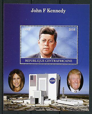 Central African Rep 2016 CTO John F Kennedy JFK 1v M/S I US Presidents Stamps