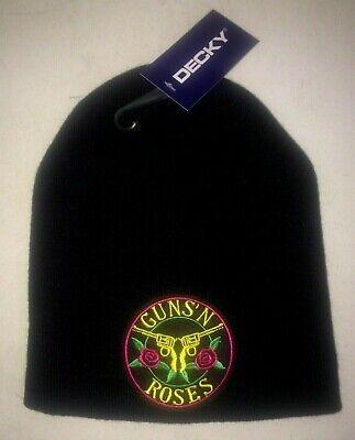 GUNS N ROSES  LOGO LICENSED BEANIE SKULL CAP NEW! t-shirt  ROCK METAL