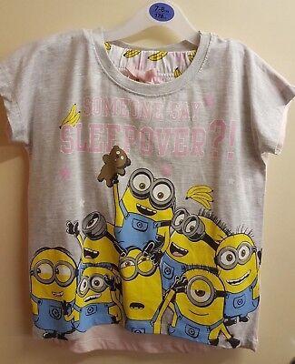 Minion Pj Pyjama Satz Mädchen Kinder Kurzärmeliges Top Shorts Banane Design - Kinder Mädchen Short Pj