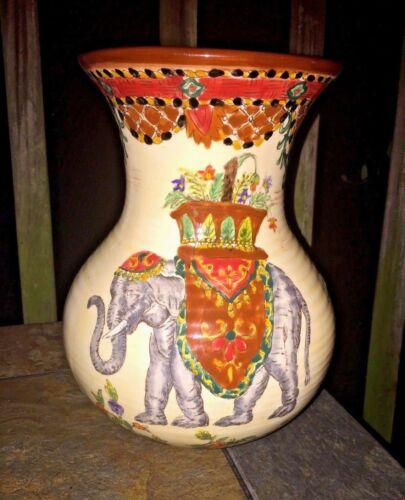 Vintage UNIQUE ONE OF A KIND 10/8▬ ELEPHANT Trunk UP India Middle East VASE ❤️j8