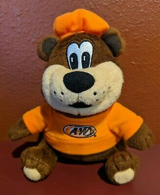 A&W Rooty Root Bear Plush Mascot Root Beer Stuffed 6""