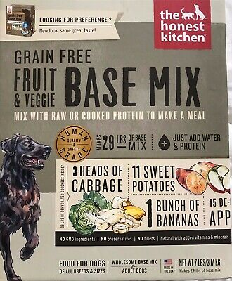 Honest Kitchen 7lb Grain Free Fruit Veggie Preference Free Shipping Best by