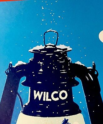 Wilco run poster Winterlude Chicago Theater Showdeer  Beautiful