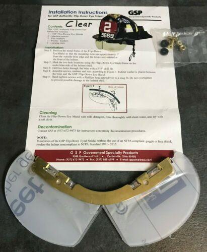 GSP Flip Down Eye Shield (Bourkes) for fire helmets