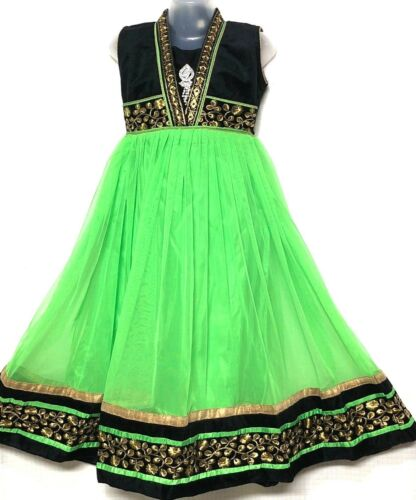 Indian Bollywood Pakistani Bangladesh kids anarkali chudithar salwar age 5 & up