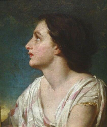 19th Century Pre-Raphaelite Maiden Portrait Edward Robert HUGHES (1851-1914)