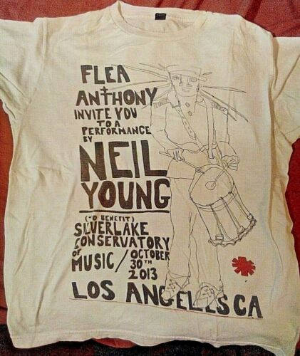 Red Hot Chili Peppers Neil Young rare one time shirt Flea & Anthony Silverlake