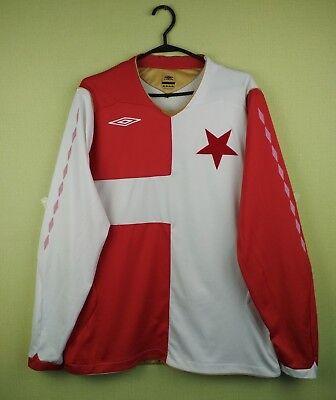 Slavia Praha jersey shirt 2007/2008 Cup umbro soccer football long slevee XL image
