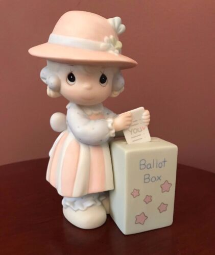 Precious Moments You Will Always Be My Choice Girl Voting Figurine 1989 Vintage