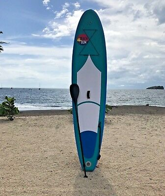 """Beach Bum SPK3 - 10' 10"""" (6"""" Thick) Inflatable Stand Up Paddle Board SUP"""