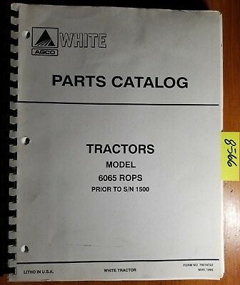 White 6065 Rops Tractor Sn -1500 Parts Catalog Manual 79016755 595