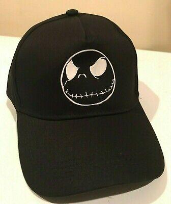 Jack Skellington Face Logo Hat Baseball Cap Nightmare Before Christmas Negative