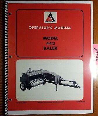 Allis-chalmers 442 Baler Owners Operators Manual 566875