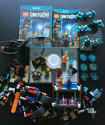 Lego Dimensions Software Wii U Incomplete Set w/ Batman Joker + 4 Pounds Random