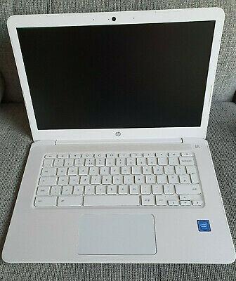"HP Chromebook 14-ca004na, Intel Celeron N 1.1GHz, 4GB RAM, 32GB eMMC, 14""- White"