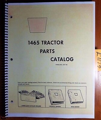 Oliver Cockshutt 1465 White 1470 Tractor Parts Catalog Manual 433 166 273
