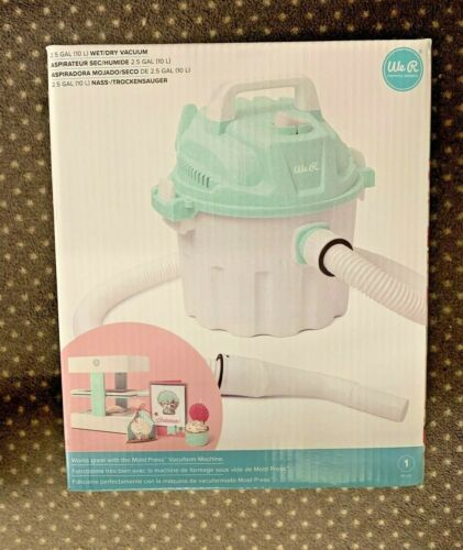 We R Memory Keepers Mold Press Wet/Dry Vacuum-White/Mint New In Box Ships FREE