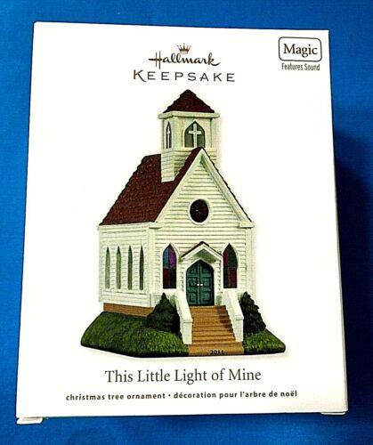 "Hallmark ""This Little Light of Mine"" Church Magic Ornament New Batteries 2011"