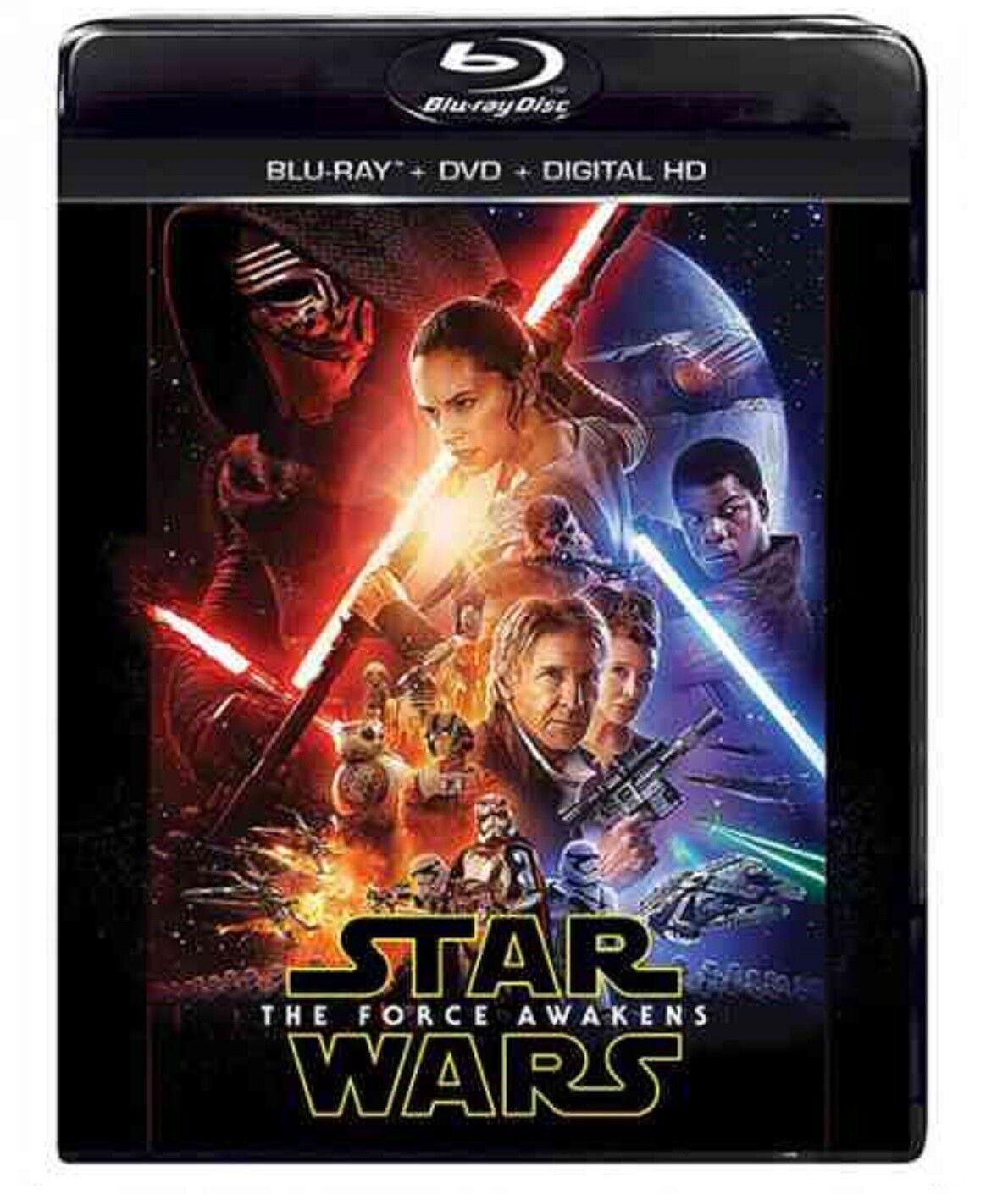 Star Wars: The Force Awakens Blu-ray/DVD, 2016, Includes Digital Copy