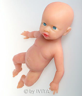 IVITA New Deign Reborn Dolls Full Soft Silicone Baby Girl Doll Take a Pacifier