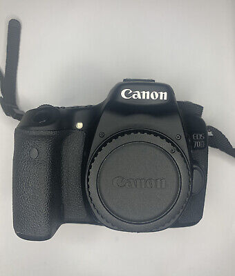 Canon EOS 70D Digital SLR Camera - Black (Body Only) WITH BATTERY CAMERA