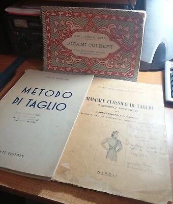 METODO DI TAGLIO - MANUALE CLASSICO DI TAGLIO - RICAMI COLBERT anni 50