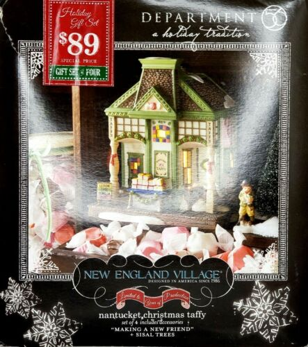 Department 56 New England Nantucket Christmas Taffy Village