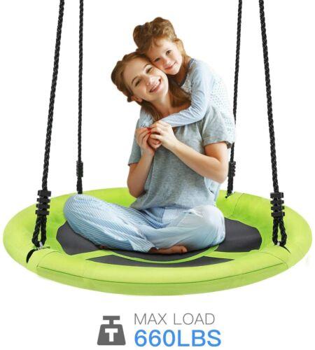 700Lbs Spinner Swing Kids Round Mat Swing Great for Tree, Swing Set Backyard NEW